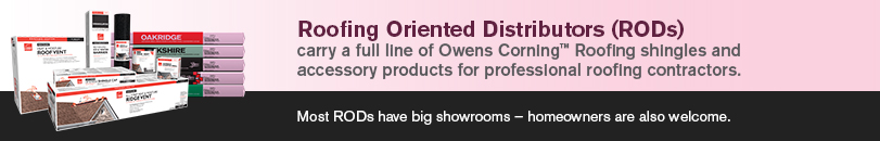 Find Retailers Or Distributors Owens Corning Roofing